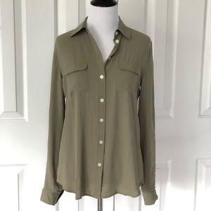 NWT LOFT Button up blouse long-sleeve Ann Taylor